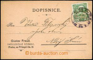77869 - 1909 Maxa H44, nepříslušný firemní lístek, vyfr. zn. F
