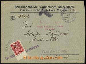 77875 - 1941 BOHEMIA-MORAVIA  off. mailing with payment postage rece