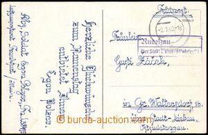 77877 - 1941 poštovna RUDELZAU/ über Stadt Liebau (Ostsudetenld),