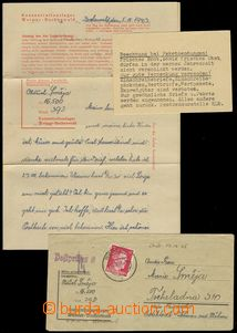 77922 - 1943 C.C. BUCHENWALD  letter incl. content and card with ins