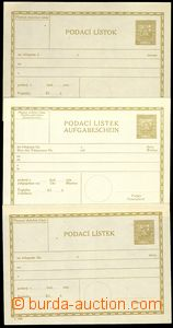77932 - 1930 CPL3A, B, C, certificate of mailing Coat of arms 50h, a