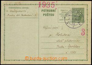 77956 - 1935 CPO2, T II., 90h Coat of arms, nepřifrankovaná, CDS P