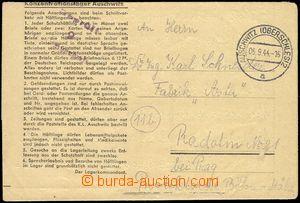 77981 - 1944 KT AUSCHWITZ  předtištěný skládaný dopis zaslaný