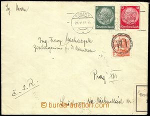 77994 - 1938 letter sent from Wien (Vienna) to Prague, with 6Pf and