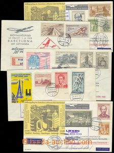 78017 - 1962-64 CZECHOSLOVAKIA 1945-92  comp. 5 pcs of letters, tran