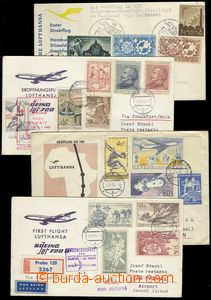 78019 - 1959-63 CZECHOSLOVAKIA 1945-92  comp. 4 pcs of letters, 1x c