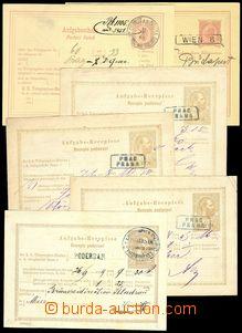 78035 - 1874-12 comp. 11 pcs of certificates of mailing for telegram