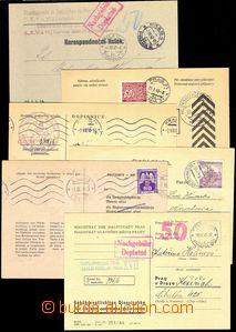 78049 - 1940-45 sestava 11ks různých  úředních lístků, 8x pou