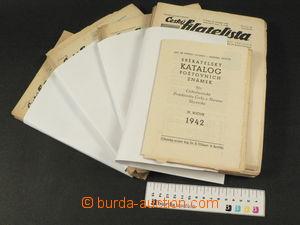 78061 - 1940-43 Czech philatelist, 4 incomplete annual volumes phila