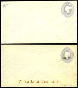 78068 - 1892 postal stationery cover Mi.U12, 2 pcs of, Un, from that
