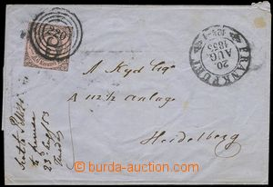 78081 - 1853 folded cover of letter with Mi.9, good margins, four-ci