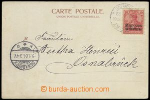 78083 - 1904 pohlednice vyfr. zn. Mi.9, DR RABAT/ Deutsche Post/ 23.