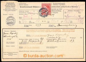 78094 - 1944 COF9 telegraph postal order II. volume, with Pof.98 A.