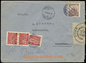 78097 - 1941 letter sent from Frenštát to Prostějov, recipient no