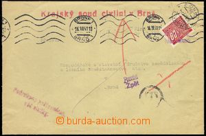 78101 - 1941 letter official mailing after/around Brno, returned, Po
