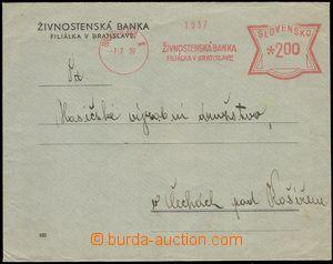 78136 - 1939 firemní dopis do ČaM frankovaný OVS Živnostenská b