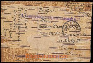 78138 - 1915 LÍSTEK Z BŘEZOVÉ KŮRY / K.u.K. INFANTERIEREGIMENT H