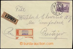 78144 - 1937 Registered and Express letter with Pof.301 2x, 311, CDS