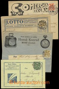 78149 - 1920 comp. 4 pcs of entires with advertising added prints, 1