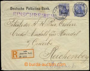 78155 - 1911 private letter with imprinted stmp 20Pf Germania and ov