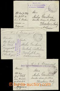 78163 - 1917 comp. 3 pcs of letters with cancel. K.u.K.. EP Podgoric