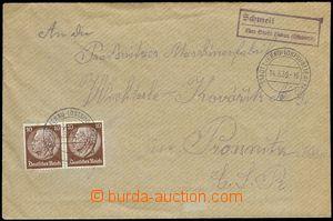 78166 - 1939 poštovna SCHMEIL (kat. Geb.1216/5), fialové rámečko
