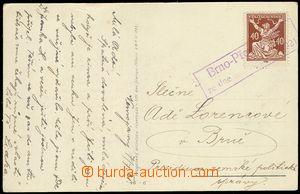 78167 - 1921 pohlednice frank. zn. Pof. 154, provizorní rámečkov�