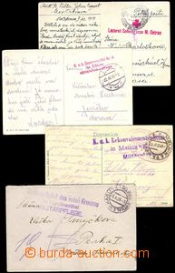 78168 - 1914-17 comp. 8 pcs of mailing FP with postmarks hospital eq