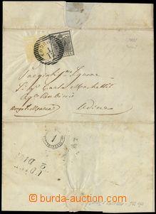 78177 - 1851 skládaný dopis vyfr. zn. 5+10ct, Mi.1+2, typ I., DR C
