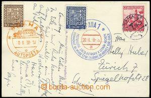 78196 - 1939 postcard, výhled from café, special postmark to hocke