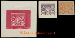 78200 - 1920 comp. 3 pcs of designes on/for postage stmp from A. Bru