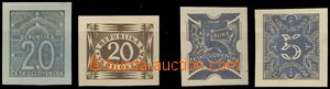 78201 - 1920 comp. 4 pcs of designes on/for Postage due stamps from