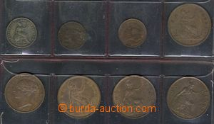 78236 - 1837-99 GREAT BRITAIN  comp. 8 pcs of coins, farthing Willia