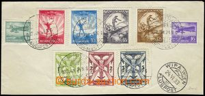 78246 - 1933 upper half envelope/-s with mounted complete sets airma