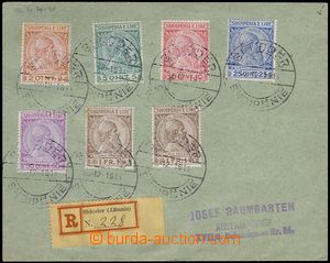 78249 - 1913 philatelically influenced Reg letter with Mi.29-33 + 2x