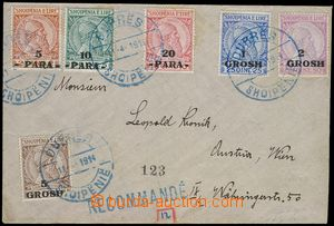 78251 - 1914 philatelically influenced Reg letter franked by complet