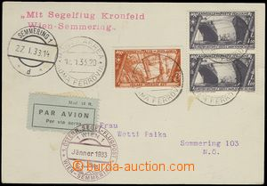 78255 - 1933 postcard franked by Mi.424, 2x 425, CDS Posta Aerea/ Ro