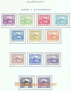 78261 -  Pof.1-25, Hradčany, bez 6, 9 a 13, známky s průsekem, lehké