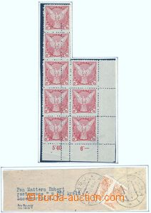 78274 - 1918 Pof.NV3, Falcon in Flight (issue), double perf on/for b