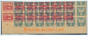 78283 - 1918 maculature, Sokol 2h, more/larger multiple with margin