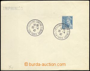 78287 - 1942 FRANCE  envelope with stmp and 2 pcs of special postmar