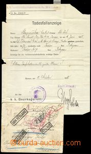 78292 - 1918 notification of death sent from Zbiroh to St. Petersbur