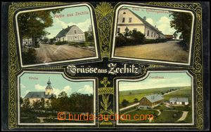 78302 - 1914 STRÁNSKÉ (Zechitz) - 4-view, pub, church, forester's