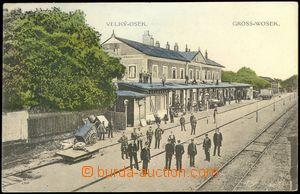 78307 - 1914 VELKÝ OSEK (Gross-Wosek) - railway-station, people; Us