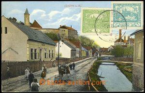 78309 - 1920 ZÁBŘEH - nábřežní street, children; Us, text Espe