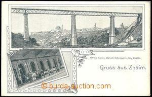 78310 - 1900 ZNOJMO (Znaim) - 2-okénková, železniční viadukt, n