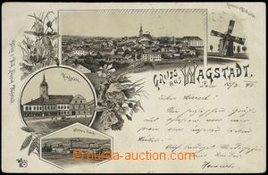 78329 - 1897 BÍLOVEC (Wagstadt) - lithography, wind-mill, factory;