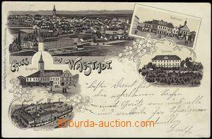78330 - 1902 BÍLOVEC (Wagstadt) - litografická koláž, zámek, to