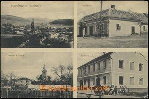 78331 - 1917 BOŘITOV - 4-okénková, obchod, kostel, škola, radnic