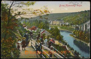 78332 - 1918 PISÁRKY - Kamenný mlýn, v popředí lidé; prošlá,